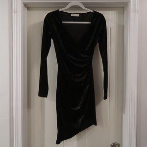 Bear dance black velvet dress
